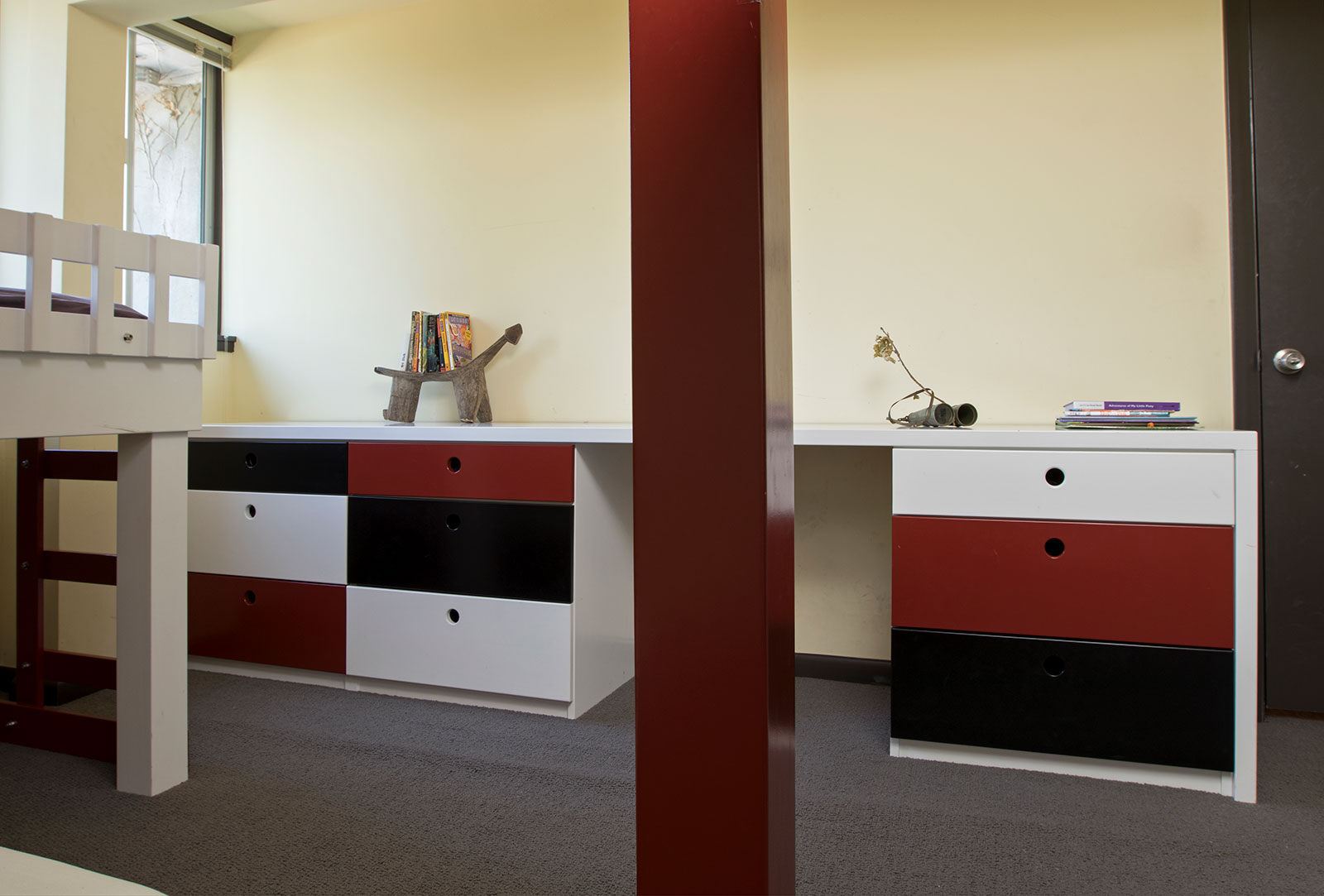 Stately Lacquer Bedroom Drawers and Desk